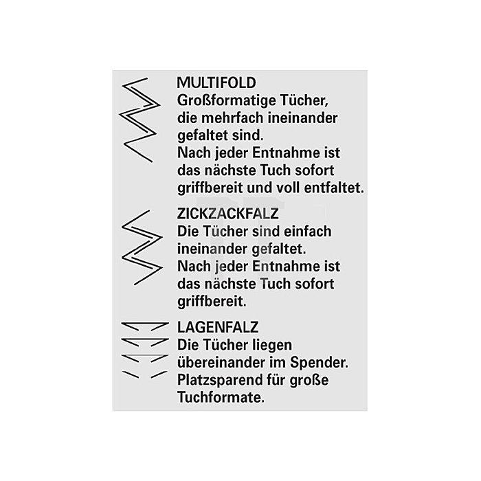 Handtuch weiss 2lagig Tissue L.310mm B.250mm Lagen-Falzung 2400Tücher/VE