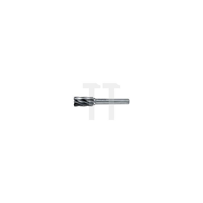 Hartmetall Frässtift Alu Form A Zylinder (ZYA) mit Stirnverzahnung