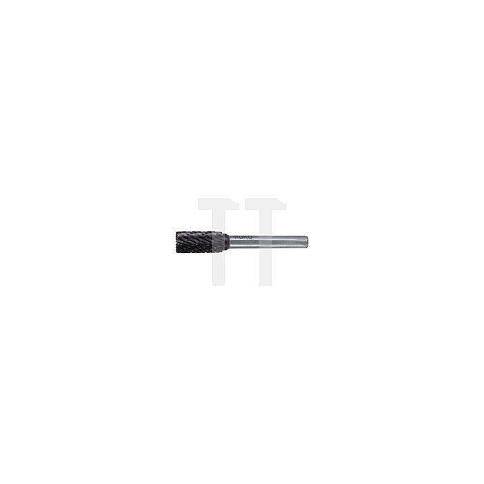 Hartmetall Frässtift TiCN Form A Zylinder (ZYA) mit Stirnverzahnung