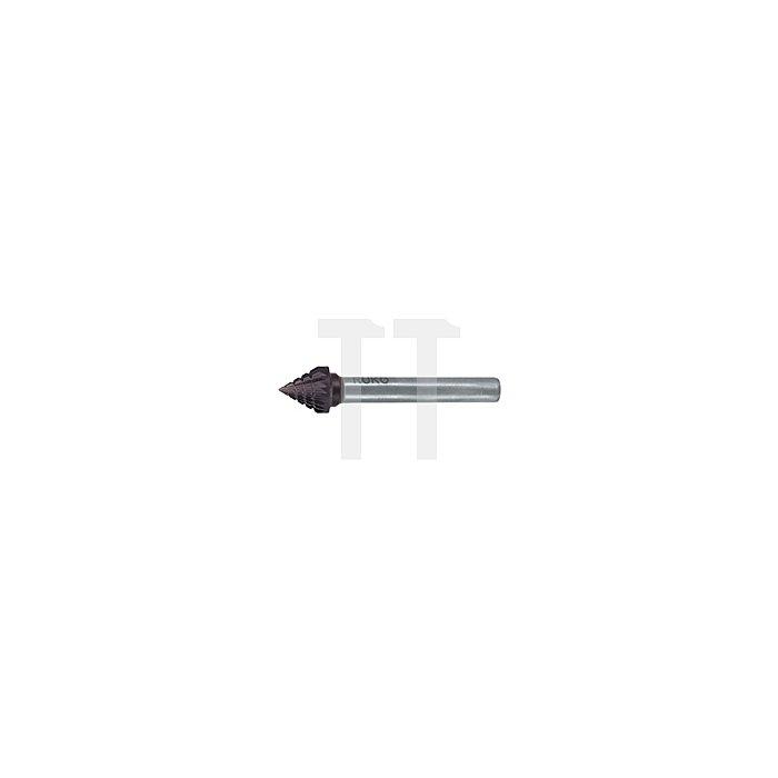 Hartmetall Frässtift TiCN Form J Kegel 60° (KSJ)