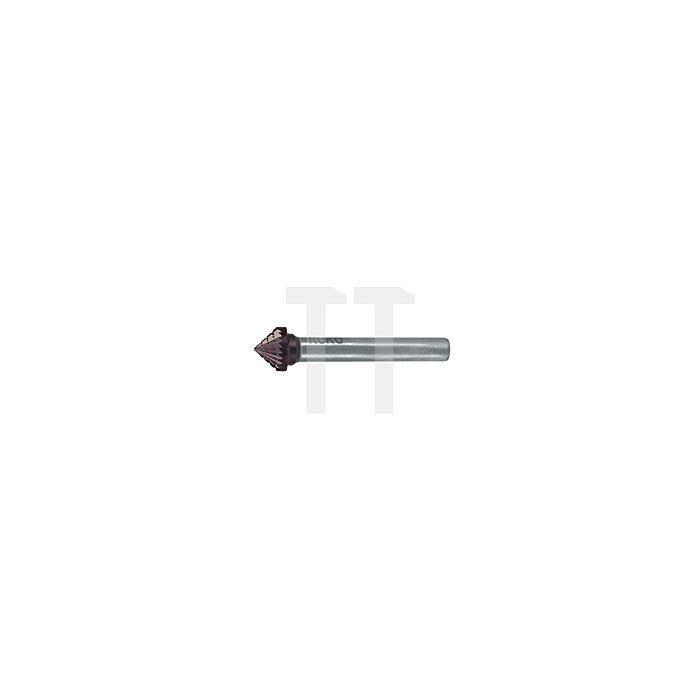 Hartmetall Frässtift TiCN Form J Kegel 90° (KSK)