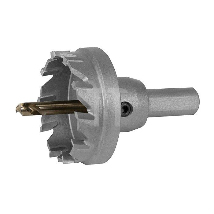 Hartmetall Lochsäge Flachschnitt Ø 22 mm