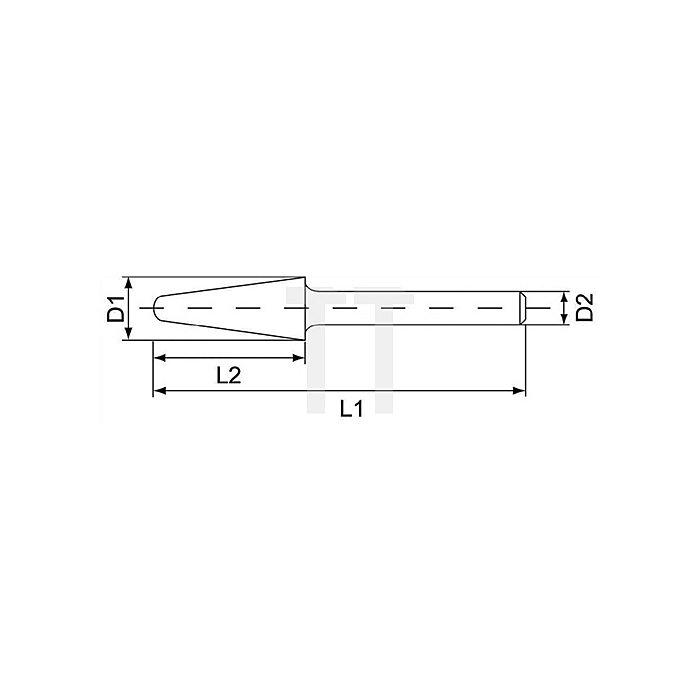 Hartmetallfrässtift Form L D.10mm HM KEL
