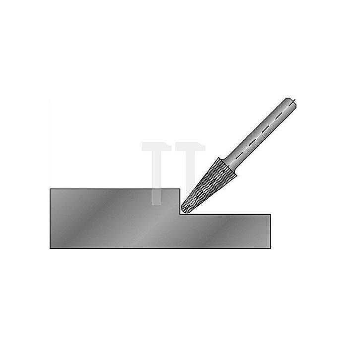 Hartmetallfrässtift Form L D.16mm HM KEL