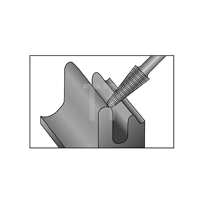 Hartmetallfrässtift Form L D.8mm HM KEL
