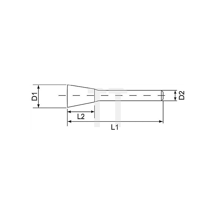 Hartmetallfrässtift Form N D.10mm HM WKN