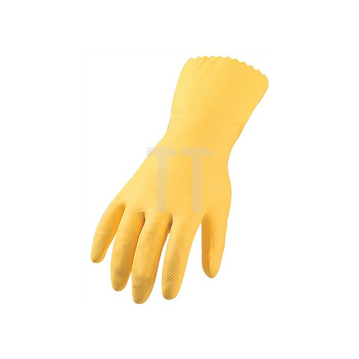 Haushaltshandschuh Gr. 9 Latex gelb EN388/374 Kat. II