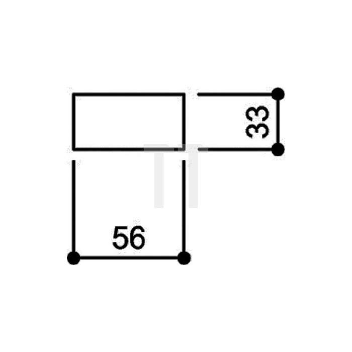 Hausnummer Bindestrich Polyamid D.33mm reinweiss