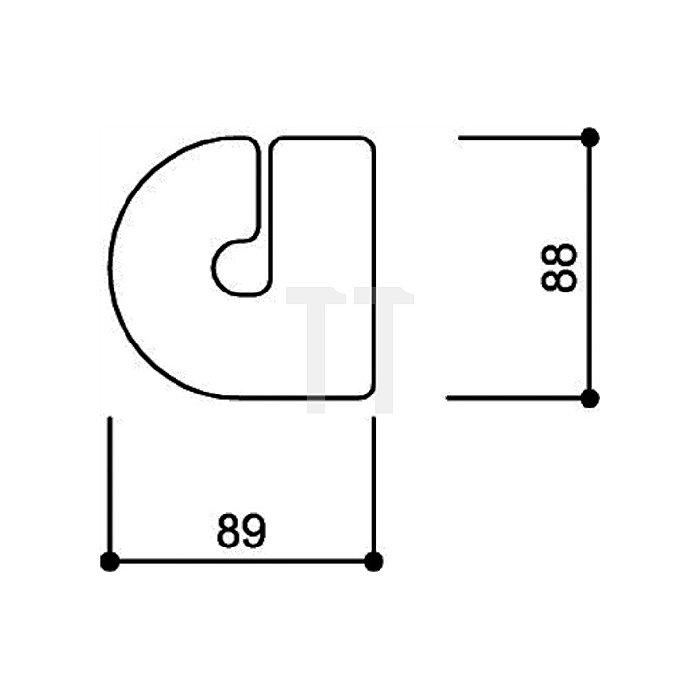 Hausnummer Kleinbuchstabe a Polyamid D.33mm stahlblau