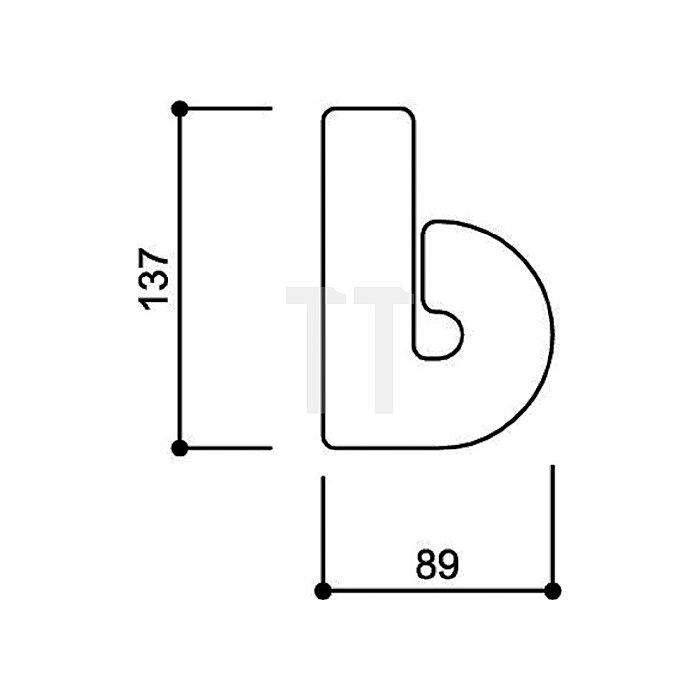 Hausnummer Kleinbuchstabe b Polyamid D.33mm kaffebraun