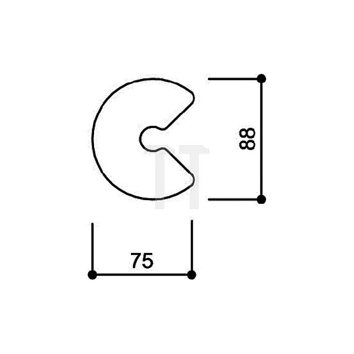 Hausnummer Kleinbuchstabe c Polyamid D.33mm felsgrau