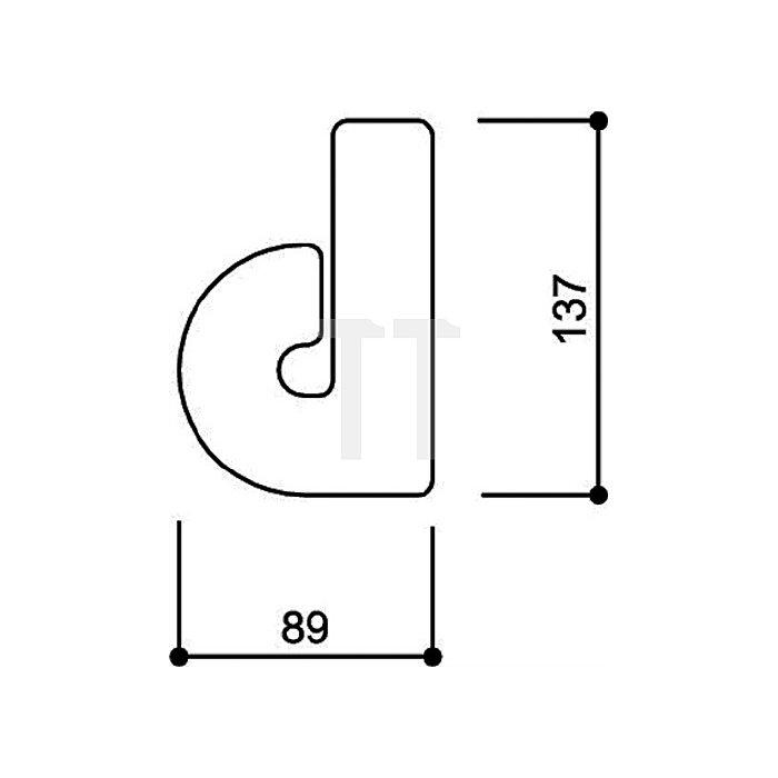 Hausnummer Kleinbuchstabe d Polyamid D.33mm kaffebraun