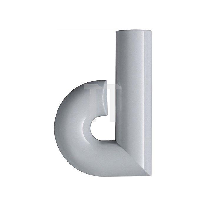 Hausnummer Kleinbuchstabe d Polyamid D.33mm lichtgrau