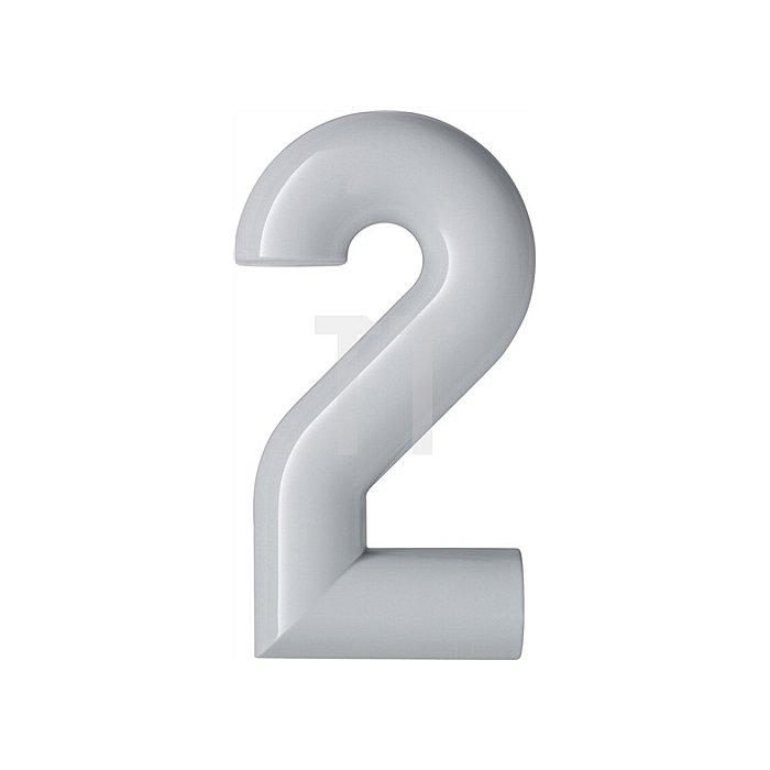 Hausnummer Ziffer 2 Polyamid D.33mm H.165mm rapsgelb