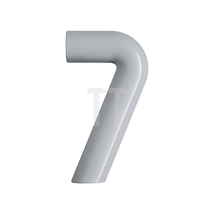 Hausnummer Ziffer 7 Polyamid D.33mm H.165mm stahlblau