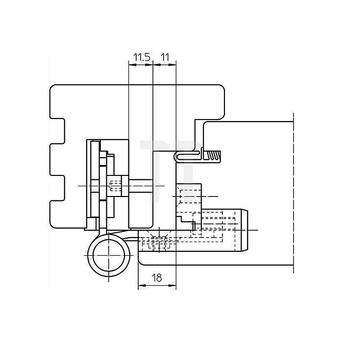 Haustürband BAKA Protect 3D D.20mm L.120mm VA matt gebürstet Trgf.120kg