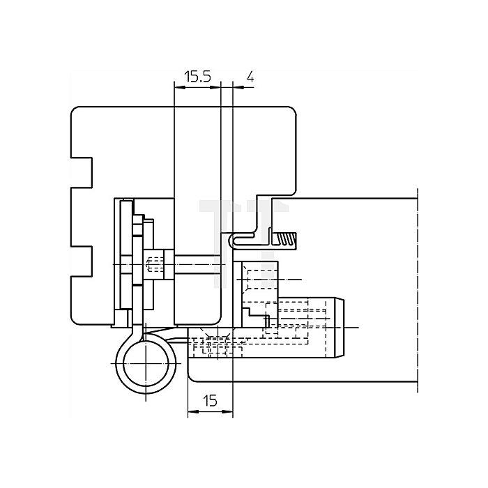 Haustürband BAKA Protect 3D L.120mm D.20mm poliert-vergoldet f.Flügeldichtung
