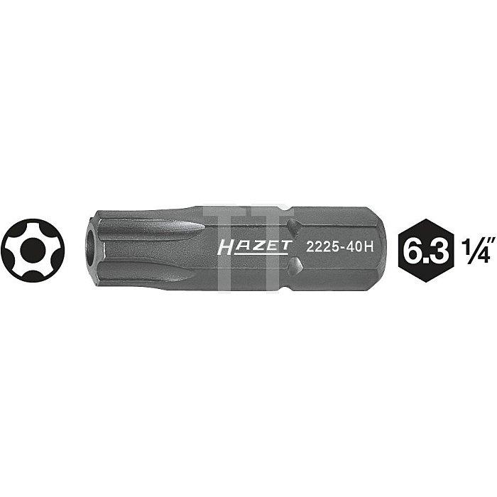 HAZET 5-Stern-Bit - Sechskant massiv 6,3 (1/4 Zoll) - Innen-5-Stern Profil mit Zapfen