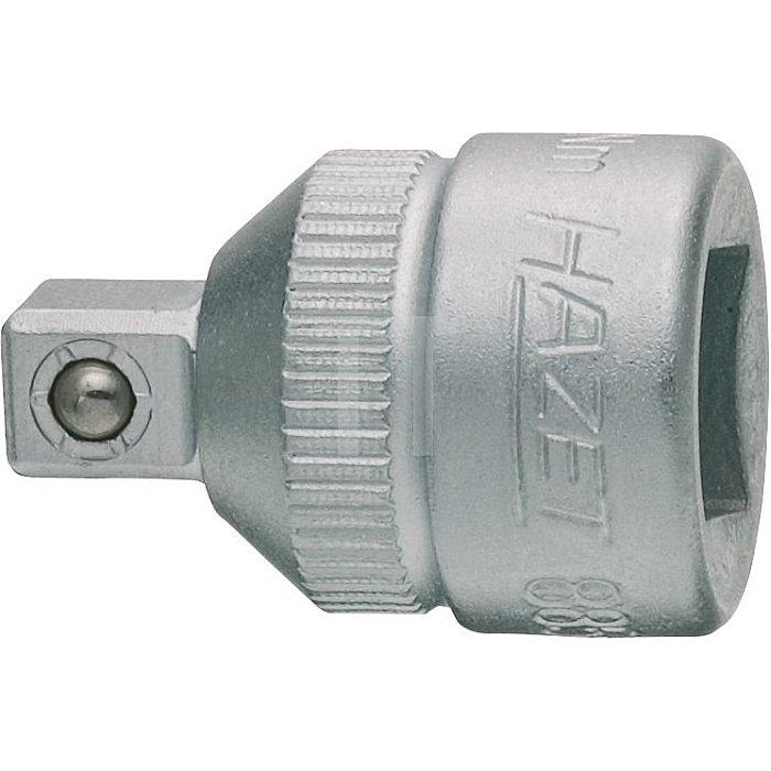HAZET Adapter - Vierkant hohl 10 mm (3/8 Zoll) - Vierkant massiv 6,3 mm (1/4 Zoll)