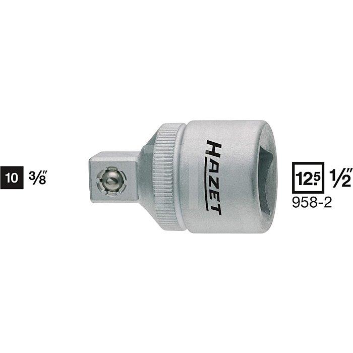 HAZET Adapter - Vierkant hohl 12,5 mm (1/2 Zoll) - Vierkant massiv 10 mm (3/8 Zoll)