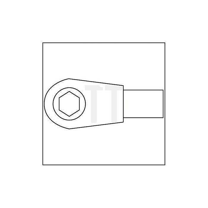 HAZET Bit-Einsteck-Umschaltknarre - Einsteck-Vierkant 9 x 12 mm - Sechskant hohl 6,3 (1/4 Zoll), Innen-Sechskant Profil