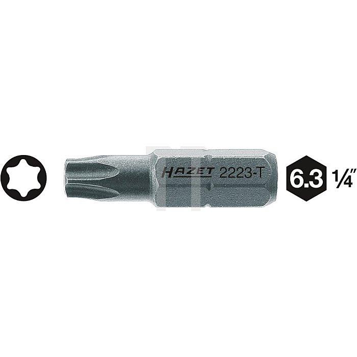 HAZET Bit - Sechskant massiv 6,3 (1/4 Zoll) - Innen TORX® Profil - T7 mm