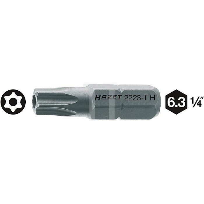 HAZET Bit - Sechskant massiv 6,3 (1/4 Zoll) - Tamper Resistant TORX® Profil - T7H mm