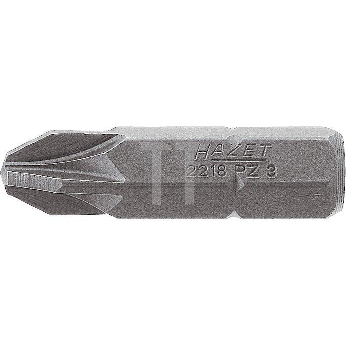 HAZET Bit - Sechskant massiv 8 (5/16 Zoll) - Pozidriv Profil PZ - PZ3 mm