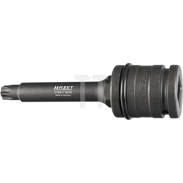 HAZET Bremsscheiben Schraubendreher-Steckschlüsseleinsatz-Satz - Vierkant hohl 20 mm (3/4 Zoll) - Innen TORX® Profil - T60 mm - Anzahl Werkzeuge: 4