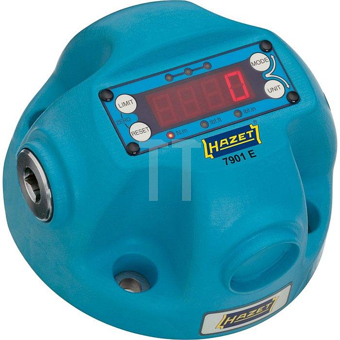 HAZET Drehmoment-Prüfgerät, elektronisch, 10–350 Nm - Nm min-max: 10–350 Nm - Vierkant hohl 12,5 mm (1/2 Zoll)