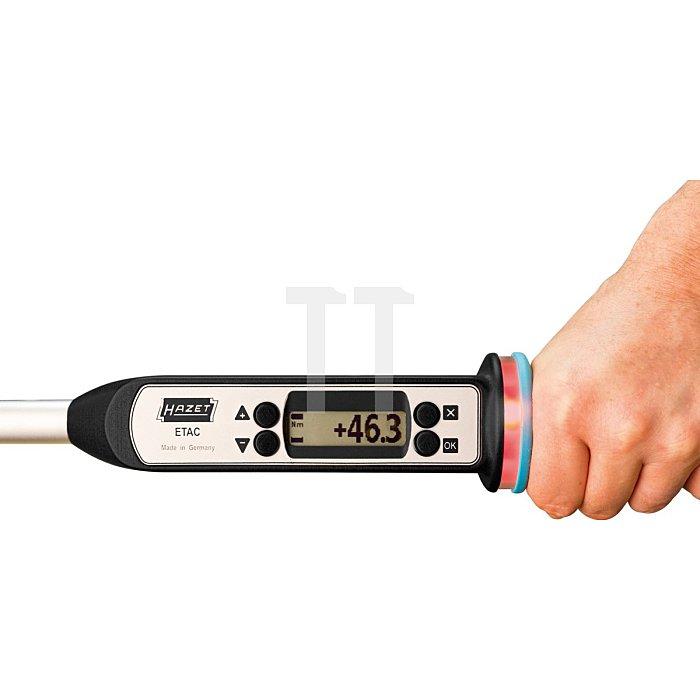 HAZET Elektronischer Drehmoment- / Drehwinkel-Schlüssel Basis-Version - Nm min-max: 40–400 Nm - Toleranz: 2% - Einsteck-Vierkant 14 x 18 mm, Vierkant massiv 20 mm (3/4 Zoll)