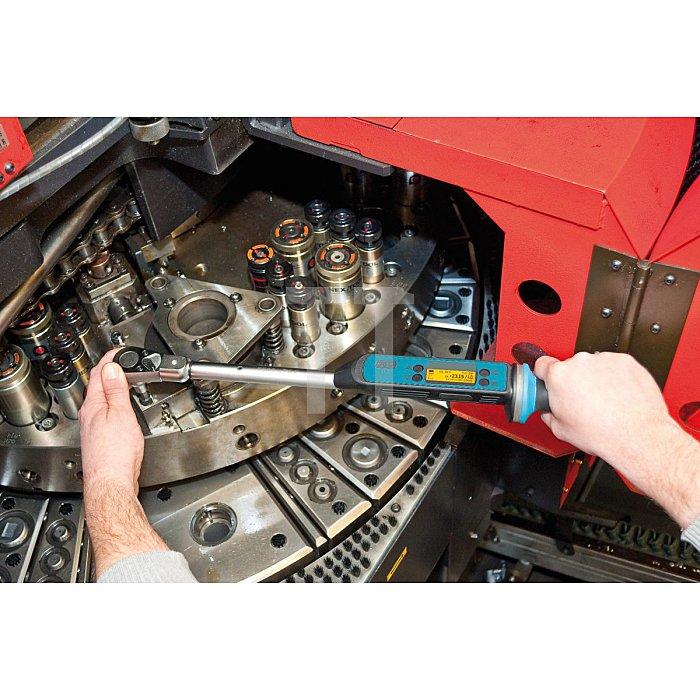 HAZET Elektronischer Drehmoment-/ Drehwinkel-Schlüssel Betriebs-/ Werkstatt-Version - Nm min-max: 10–200 Nm - Toleranz: 2% - Einsteck-Vierkant 14 x 18 mm, Vierkant massiv 12,5 mm (1/2 Zoll)