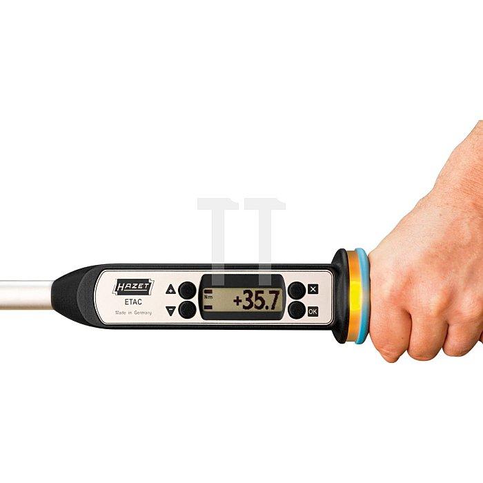 HAZET Elektronischer Drehmoment- / Drehwinkel-SchlüsselTOP-Version - Nm min-max: 10–100 Nm - Toleranz: 1% - Einsteck-Vierkant 9 x 12 mm, Vierkant massiv 10 mm (3/8 Zoll)