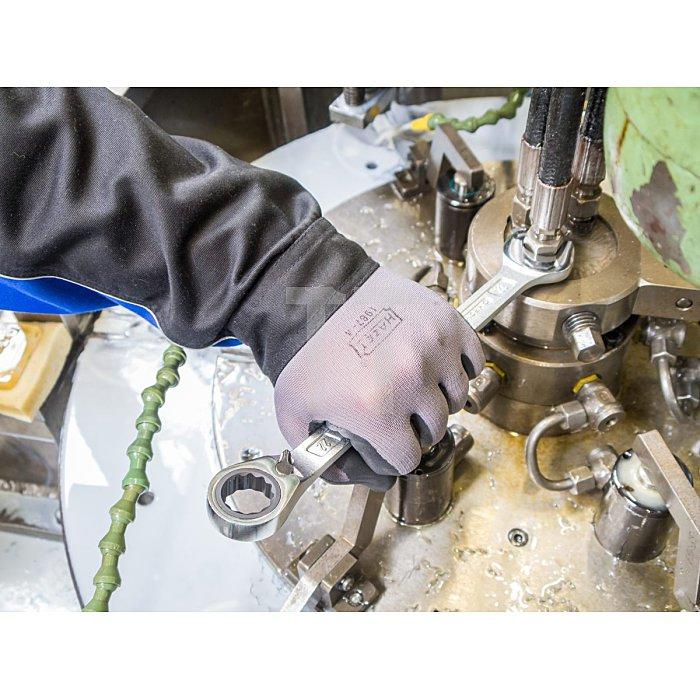 HAZET Knarren-Ring-Maulschlüssel - Außen-Doppel-Sechskant-Tractionsprofil - 10 mm