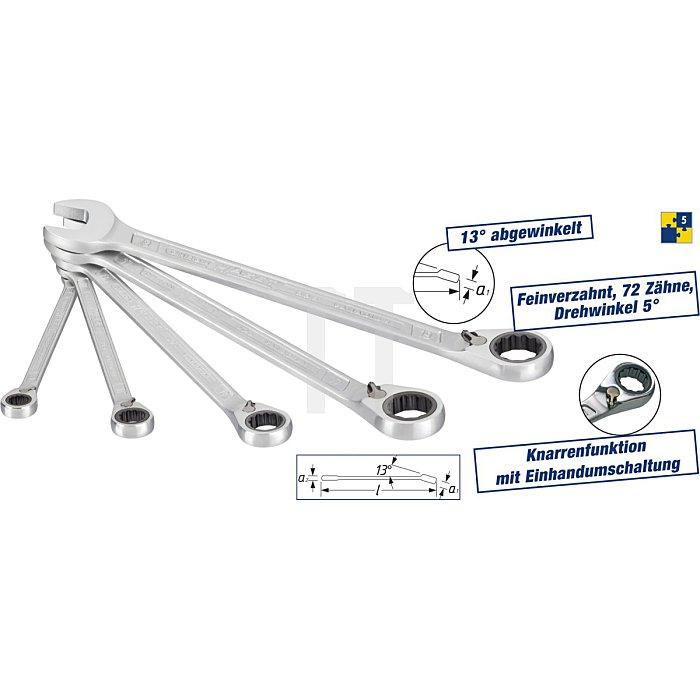 HAZET Knarren-Ring-Maulschlüssel-Satz - Außen-Doppel-Sechskant Profil - Anzahl Werkzeuge: 5
