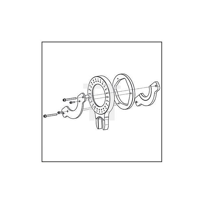 HAZET MERCEDES-BENZ Federspannplatten-Satz - Anzahl Werkzeuge: 11