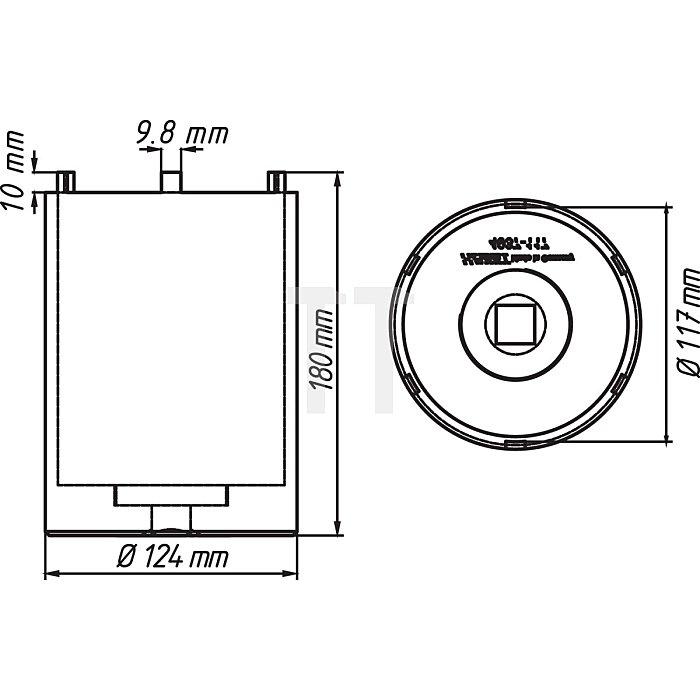 HAZET Nkw Zapfenschlüssel-Satz - Vierkant hohl 20 mm (3/4 Zoll) - Anzahl Werkzeuge: 2