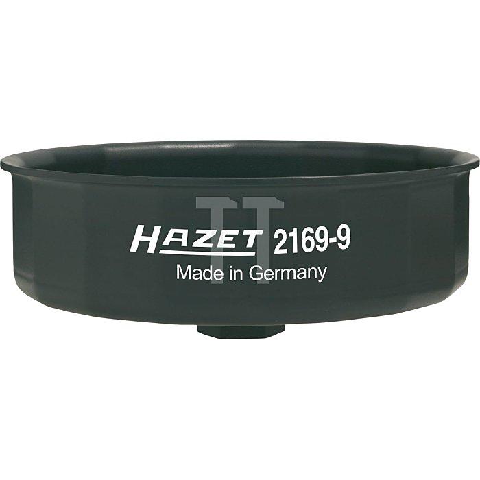 HAZET Ölfilter-Schlüssel - Außen-Sechskant 24 mm, Vierkant hohl 12,5 mm (1/2 Zoll) - Außen-15-kant Profil
