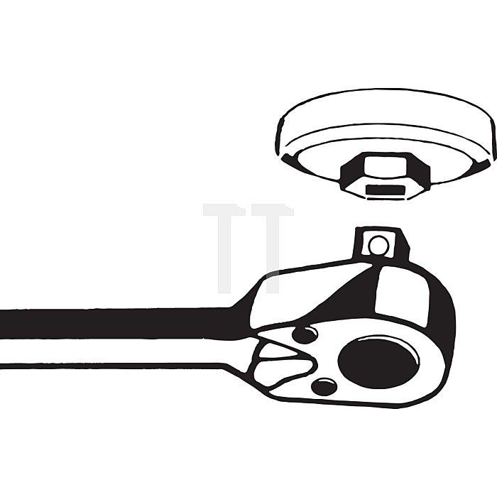 HAZET Ölfilter-Schlüssel - Vierkant hohl 10 mm (3/8 Zoll) - Außen-Sechskant Profil