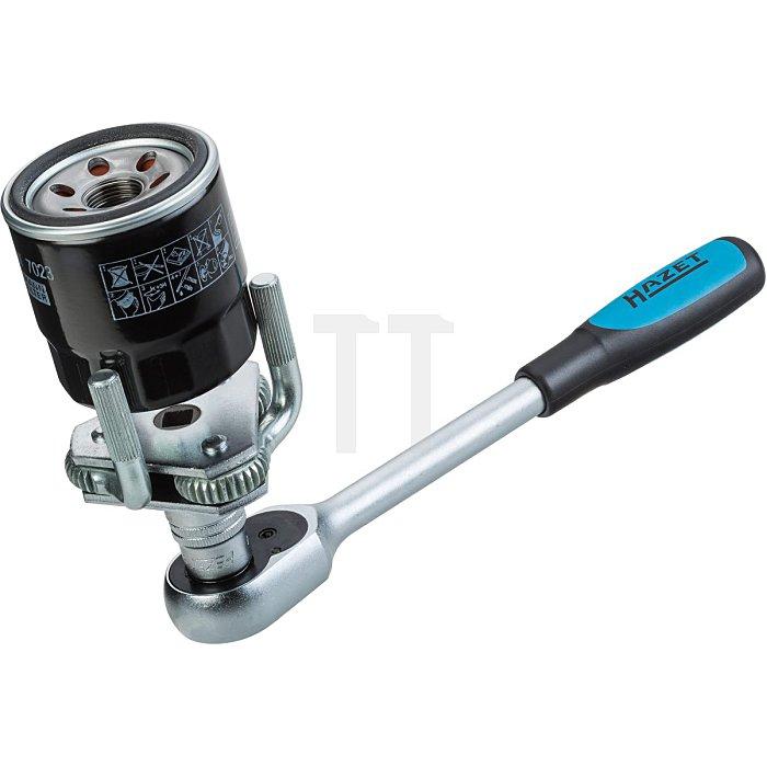 HAZET Ölfilter-Schlüssel - Vierkant hohl 10 mm (3/8 Zoll)