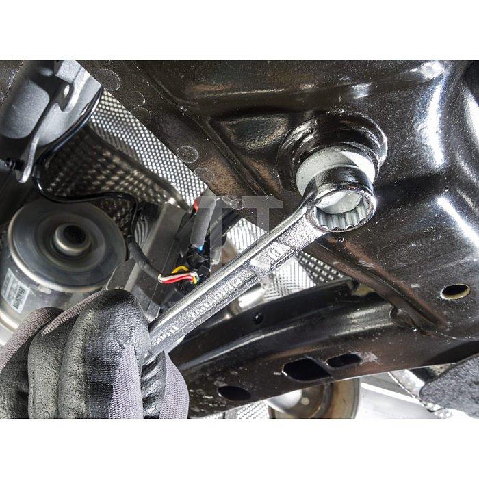 HAZET Ring-Maulschlüssel - Außen-Doppel-Sechskant-Tractionsprofil - 22 mm