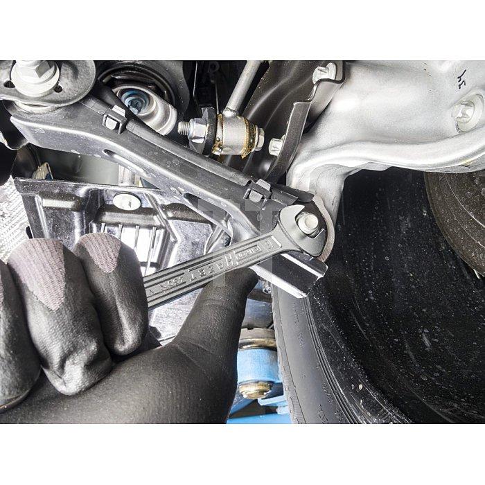 HAZET Ring-Maulschlüssel - Außen-Doppel-Sechskant-Tractionsprofil - 27 mm