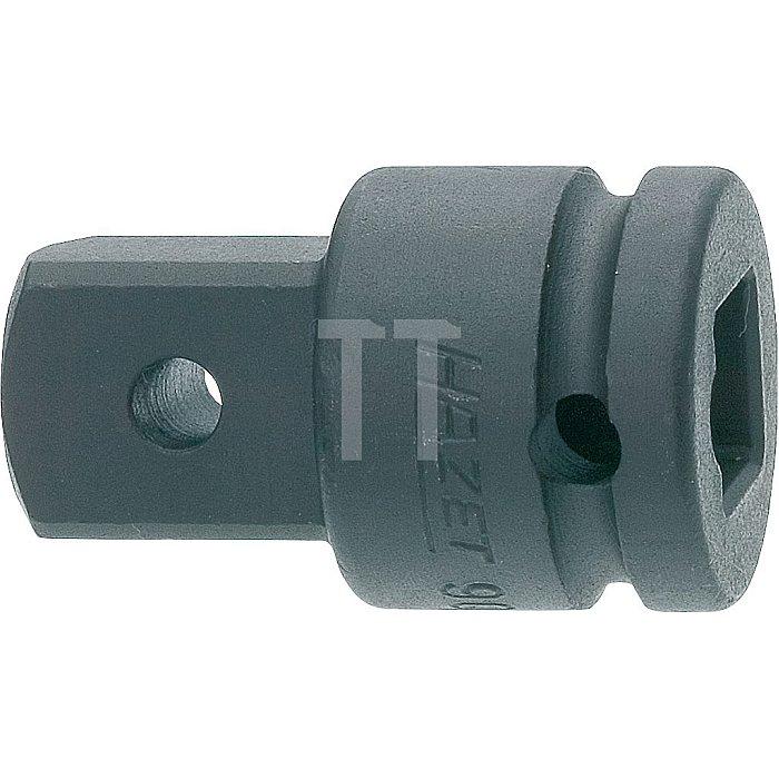 HAZET Schlag-, Maschinenschrauber-Adapter - Vierkant hohl 12,5 mm (1/2 Zoll) - Vierkant massiv 20 mm (3/4 Zoll)