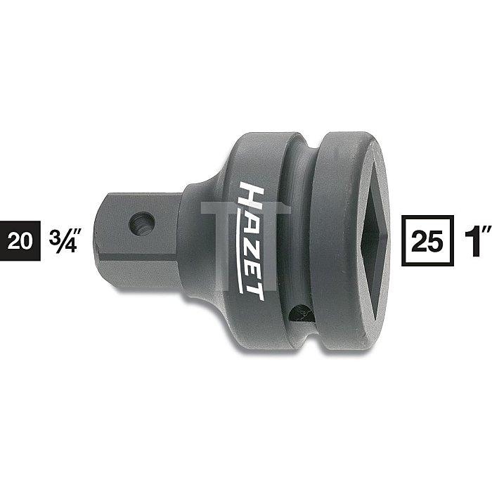 HAZET Schlag-, Maschinenschrauber-Adapter - Vierkant hohl 25 mm (1 Zoll) - Vierkant massiv 20 mm (3/4 Zoll)