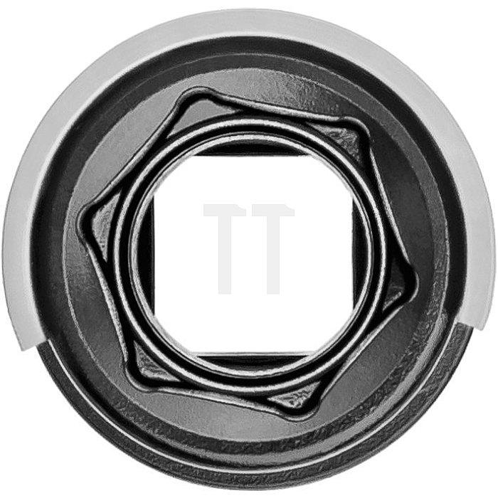 HAZET Schlag-, Maschinenschrauber-Steckschlüssel-Einsatz (6kt.), extra lang - Vierkant hohl 12,5 mm (1/2 Zoll) - Außen-Sechskant-Tractionsprofil - 17 mm