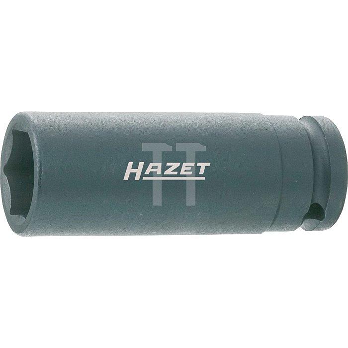 HAZET Schlag-, Maschinenschrauber-Steckschlüssel-Einsatz (6kt.) - Vierkant hohl 12,5 mm (1/2 Zoll) - Außen-Sechskant-Tractionsprofil - 15 mm