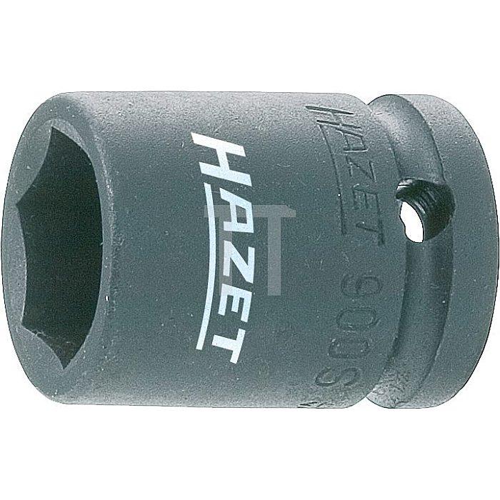 HAZET Schlag-, Maschinenschrauber-Steckschlüssel-Einsatz (6kt.) - Vierkant hohl 12,5 mm (1/2 Zoll) - Außen-Sechskant-Tractionsprofil - 21 mm
