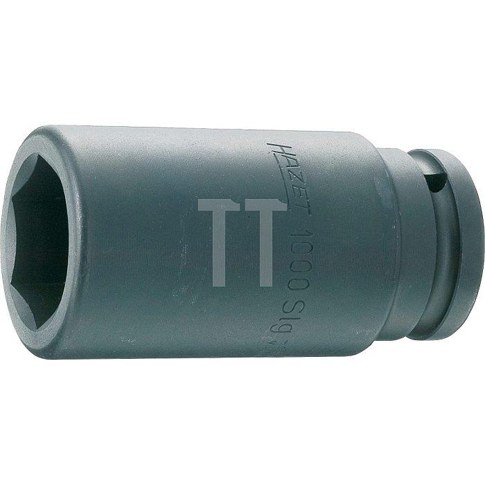 HAZET Schlag-, Maschinenschrauber-Steckschlüssel-Einsatz (6kt.) - Vierkant hohl 20 mm (3/4 Zoll) - Außen-Sechskant Profil - 33 mm