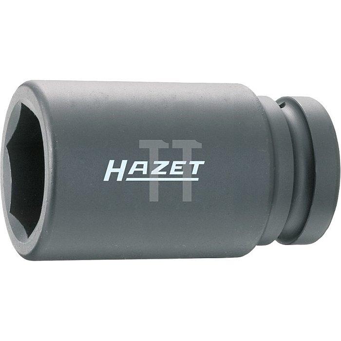 HAZET Schlag-, Maschinenschrauber-Steckschlüssel-Einsatz (6kt.) - Vierkant hohl 25 mm (1 Zoll) - Außen-Sechskant Profil - 32 mm