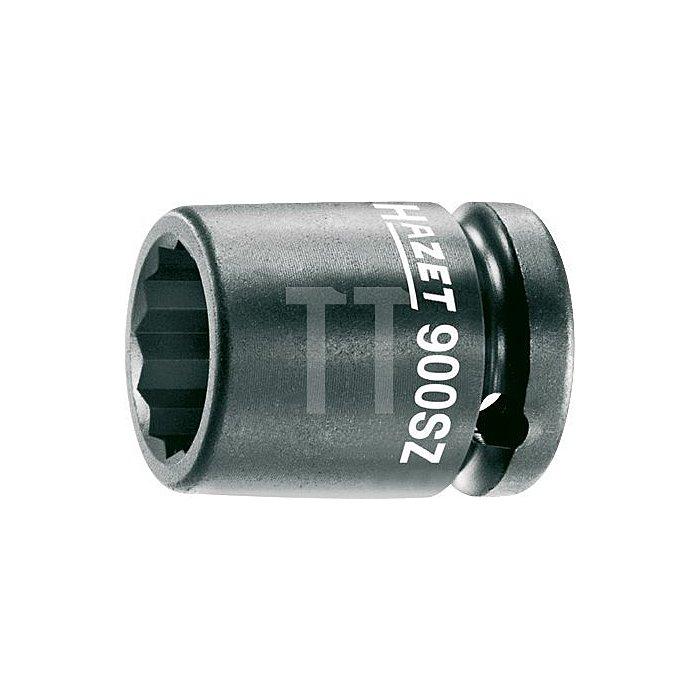 HAZET Schlag-, Maschinenschrauber-Steckschlüssel-Einsatz (Doppel-6kt.) - Vierkant hohl 12,5 mm (1/2 Zoll) - Außen-Doppel-Sechskant-Tractionsprofil - 24 mm